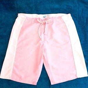 Ladies Board shorts: pink, white